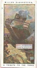 Wwi British Royal Army Tanks Tribute c100 Y/O Trade Ad Card