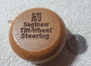 Vintage Wood Advertising Yo-Yo SAGINAW TILT-WHEEL STEERING