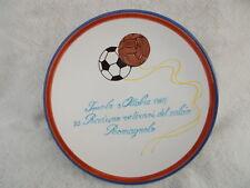 piatto 35°raduno veterani calcio romagnolo 1987 coop. Ceramica Imola PALLONE APE