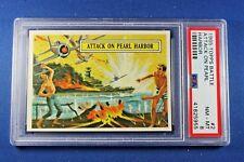 1965 Topps Battle Cards - #2 Attack On Pearl Harbor - PSA NrMt-Mt 8