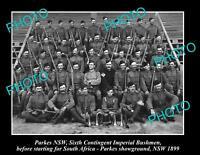 OLD LARGE HISTORIC PHOTO OF PARKES NSW BOER WAR 6th IMPERIAL BUSHMEN c1899