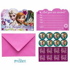 8x Frozen Postcard Invitations With Envelope Birthday Party
