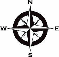 compass decal/sticker 450mm in any colour for motorhome, narrow boat or caravan
