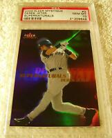 DEREK JETER 2000 FLEER MYSTIQUE SUPERNATURALS HOLOGRAPHIC FOIL #3 PSA 10 POP 6