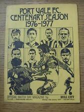 10/01/1977 Port Vale V Hull City [FA Cup replay] (arrugada, mellas, cuatro páginas)