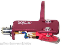 ORTOFON OM SCRATCH TURNTABLE CARTRIDGE MOUNTED ON SH4 PINK HEADSHELL Auth Dealer