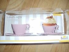 Birkmann CakeCups Baking Coffee Cup Molds Cup & Saucer Set of 2 NEW