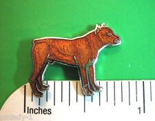 Pit Bull Terrier Pitt bull - hat pin , lapel pin , tie tac  , hatpin GIFT BOXED