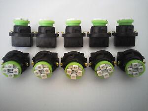 Fit GMCS15 10 Green 4 LED Dashboard Instrument Panel Indicator Light Bulb Socket