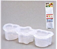 Japanese Sushi Mold Rice Ball Maker 3 Shapes White 0688 S-1759
