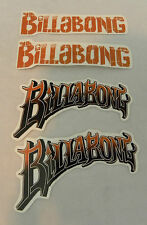 Billabong Sticker Decals Set of 4 Peel & Stick Brown & Black + Bonus Fre Sticker