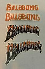 Billabong Sticker Decals Set of 4 Peel & Stick Brown & Black + Bonus Fre Sticker