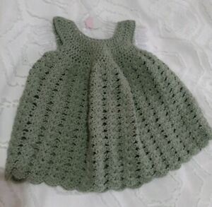 Baby girl knitted dress 0-6 months.  hand / knitted crochet