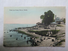 POSTCARD VIEW on SWAN RIVER PERTH WESTERN AUSTRALIA EXCELLENT CONDITION c1910