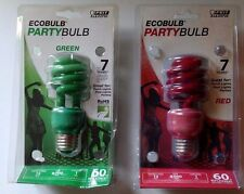 ECOBULB PARTY BULBS 2 COUNT RED AND GREEN