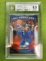 Zion Williamson RED PRIZM ROOKIE CARD GRADED 8.5 BGS 9 x3 DUKE RC PELICANS  2019