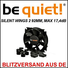 [be quiet!®] SILENTWINGS 2 92mm PWM Gehäuse-Lüfter/Fan →17,4dB Case Kühler 9,2cm