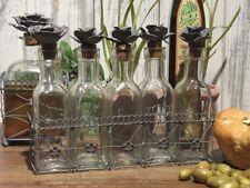 Landhaus Menage, 5er Flaschenset im Metallkorb