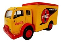 Coca-Cola White Delivery Truck Coin Bank Coke Advertising Dept. Red & Yellow