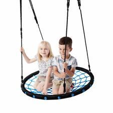 """40"""" Tree Net Swing Outdoor Spider Web Swing Kid's Detachable Swing Pure Black"""