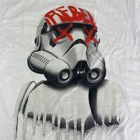 Star Wars Rebel Storm Trooper T Shirt Tee White Grafitti Sm-XXL Authentic Merch