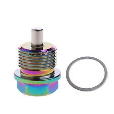 Aluminum M20 X 1.5 Magnetic Oil Drain Plug Bolt Sump Nut Colorful 3.4x2.9cm