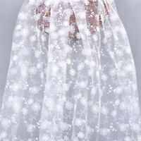 1 Yard White Flower Embroidery Lace Fabric DIY Wedding Dress Sewing Material