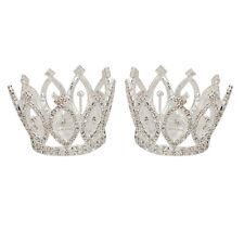 2Pcs Mini Crystal Crown Headband Tiara Bridal Children Festival Jewelry #094