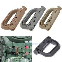 5PCS Molle Carabiner D Locking Ring Mount D-Ring Clip Snap Hook Buckle Camping