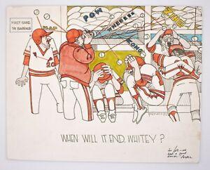 Ferdie Pacheco Signed Original Art Baseball 1982 St.Louis Cardinals World Series