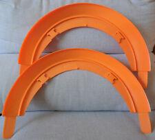 Mattel Hot Wheels Qty 2 Vintage Orange 180 Deg Curved Track Clean