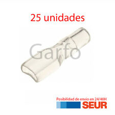 25X Funda Transparente para FASTON 6.3 mm - 6,3 mm