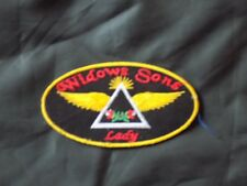 Widows Sons Lady Oval Masonic Patch Roses Iron Sew Motorcycle Fraternity NEW!