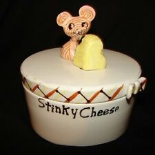 Vintage Holt Howard Merry Mice STINKY CHEESE Container Dish Pixieware