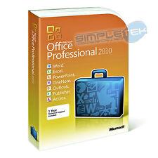 BOX LICENZA MICROSOFT OFFICE 2010 PRO 32/64bit NUOVO ORIGINAL RETAIL fatturabile