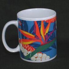 Hilo Hattie Hawaii Coffee Cup Mug Bird of Paradise Flower Colorful