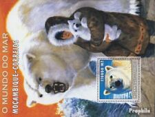 Mozambique Block184 Unmounted Mint Stamps Never Hinged 2002 World Of Marine