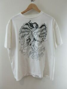 Famous Stars And Straps Mens T Shirt Size XL Crew Neck Travis Barker Adult White