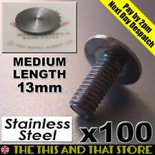 100 x 6mm Cake Stand Handle/Rod Bottom Plate Medium Flat Head Bolts(13mm length)