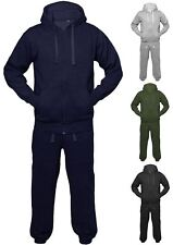 Mens Womens Unisex Plain Set Hoodie Full Jogging Jacket Sports Tracksuit