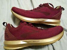 New listing Brooks Levitate-2 Women's Running Shoes Size 8.5 Sangria Metallic Chrome Gold