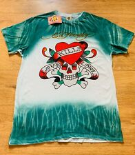 Vintage Ed Hardy Brand New Tie Dye T Shirt Size 2XL Men's