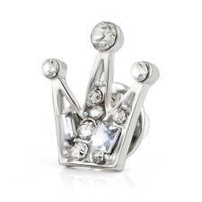 Crown Women & Men Shirt Suit Collar Clip Shirt Hollow Brooch Pin Accessory Gift