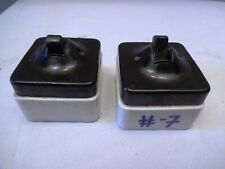 Antique Electric Switches Bakelite Porcelain Square Shape Lighting Collectible*7