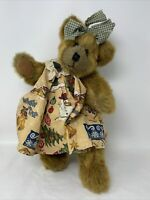 Timeless Keepsakes Plush Teddy Bear Jointed Stuffed Animal Christmas Dress 14""