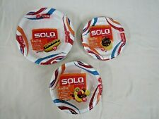 3 Assorted Size NIB Solo Cup Paper Plate Packs (120 plates total)