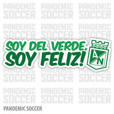 Atletico Nacional Colombia Vinyl Sticker Decal Calcomania Color Verde Feliz