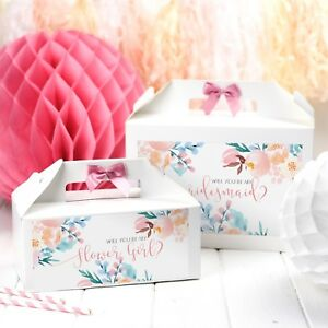 PERSONALISED WEDDING GIFT BOX | ROSE MEADOW | PARTY FAVOUR BAG