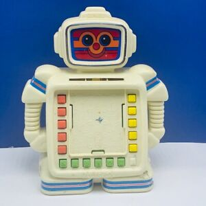 Robot toy vintage battery operated droid tomy Playskool Alphie II learning kid 1