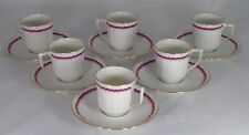 Raynaud  - Céralène - Service de 6 tasses à café en porcelaine de Limoges